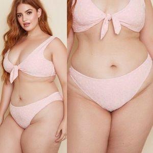Other - Daisy Duke Pink Eyelet Bikini Bottom